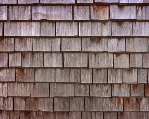 close up shot of wood shake roofing