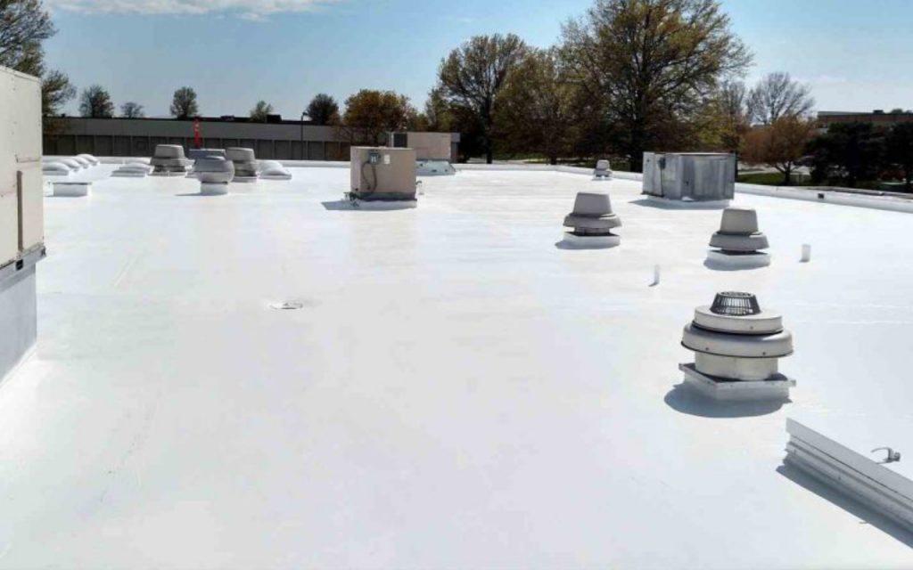 newly installed tpo roofing system