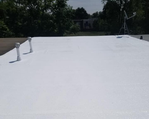 flawless white reflective roof coating in denver