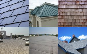 main types of roofing materials for residential and commercial buildings