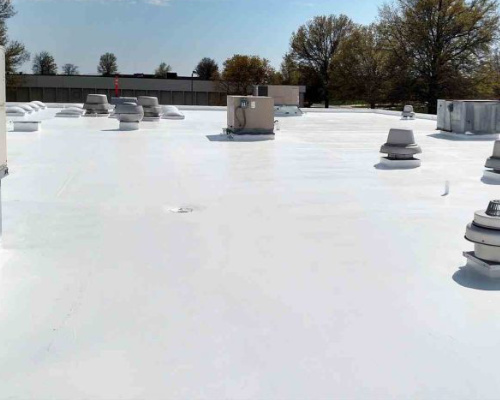 recently finished flat roofing job in denver colorado