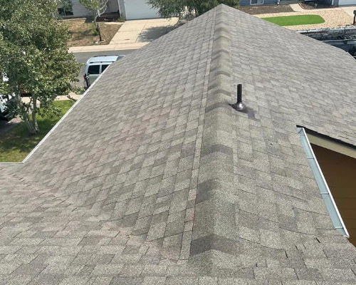residential property with newly installed asphalt roofing shingles